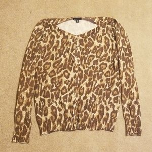 George cheetah print cardigan